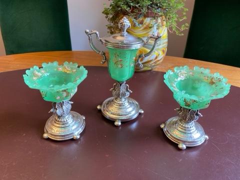 Uranium glas met zilver